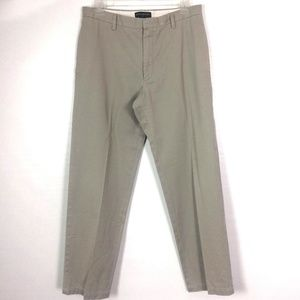 BANANA REPUBLIC Pants Khaki Flat Front (O11)